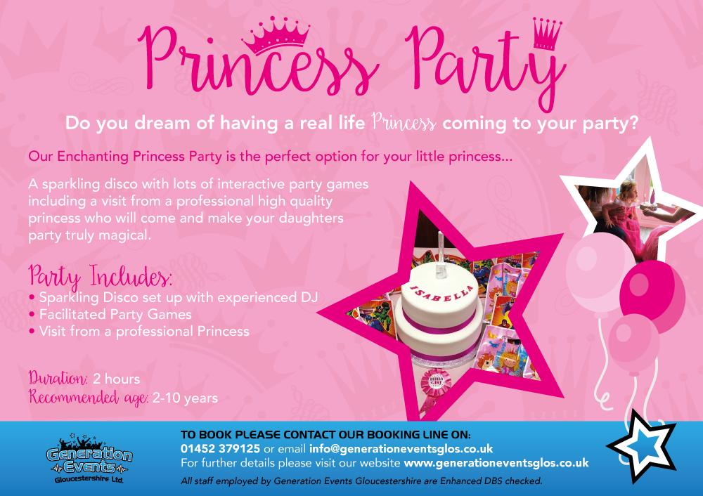 Generation-Events---Princess-Party-Advert-(Landscape)